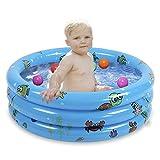 JYCRA Baby Aufblasbarer Planschbecken, langlebiges Baby-Badebad, Schwimmbecken, faltbar, Ball, Pool...
