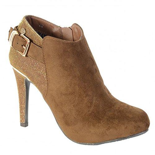 Chaussures Xti Antelina Combinada Mod 28350 Camel Beige