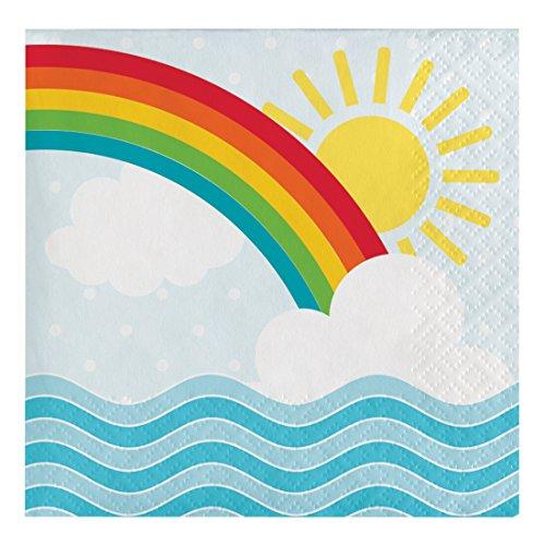 Creative Converting 31725516Count Papier Getränke Servietten, Arche Noah 5 Regenbogen-akzenten