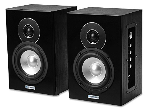 "McGrey BTS-235A Aktives HiFi Lautsprecher Paar (Studio Monitor, Bluetooth, USB/SD-Slots, MP3-Player, 35/80 W RMS/Peak, 5""/127 mm Woofer, 1""/25 mm Tweeter, 2-Band-EQ, inkl. Lautsprecher-Kabel) schwarz"