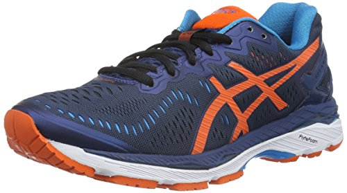 Asics Herren Gel-Kayano 23 Laufschuhe, Blau (Poseidon/Flame Orange/Blue Jewel), 41.5 EU (Gel-kayano Asics)