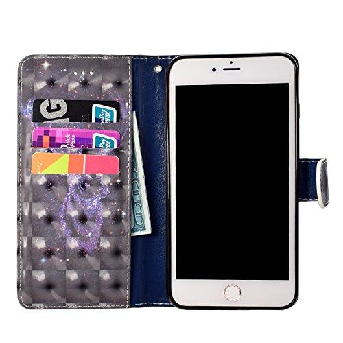 iPhone 6s Custodia,iPhone 6 4.7 Custodia in Pelle,Slynmax 3D Modello Copertura Folio Flip Cover PU Wallet Case Per iPhone 6/6s Protezione Caso Ultra Sottile Colorato Protettivi Covers Chiusura Magneti Modello #1