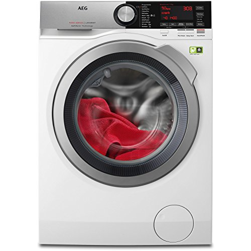 AEG L9FEC946R 9000 Series Plus Steam 9kg 1400rpm Freestanding Washing Machine-White