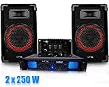 Pack DJ sono Table de mix, Ampli 2x250W + Cables