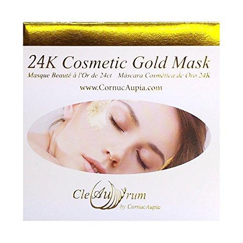 CleAurum: folleto máscara oro 24 quilates, hojas