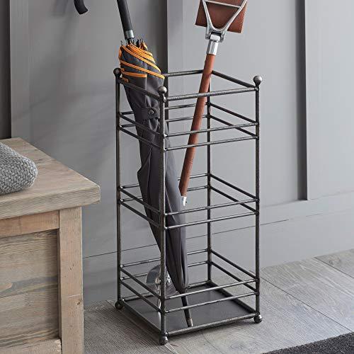 CKB Ltd Regenschirmständer - Traditionelles geschweißtes Stangen-Design - Metallbodenregal freistehend auch für Gehstöcke/Gehstöcke Flurmöbel - hergestellt aus Stahl