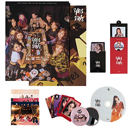 TWICE 6th Mini Album - YES OR YES [ A ver. ] CD + Photobook + Photocards + Yes or Yes Card + FOLDED POSTER + OFFICIAL 10p PHOTOCARDS SET+ FREE GIFT / K-pop Sealed