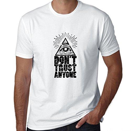 Masons Don't Trust Anyone Pyramid Men's T-Shirt
