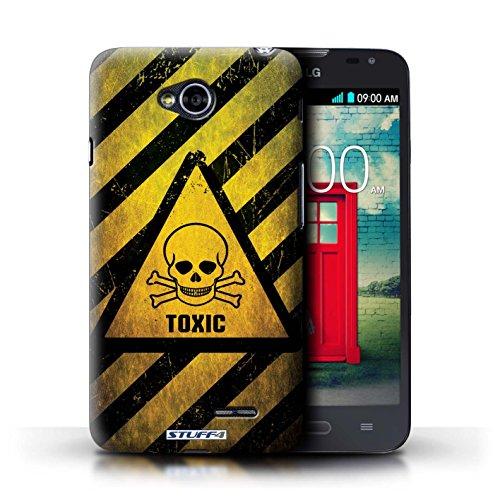 Kobalt® Imprimé Etui / Coque pour LG L70/D320 / Radiation conception / Série Signes de Danger Toxique/Crâne