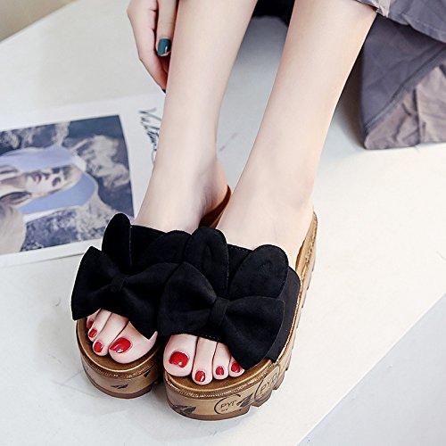 RUGAI-UE Al di fuori di moda usura raffreddare pantofole donne estate pantofole Calzature Donna Black