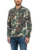 Replay Herren Freizeithemd M4930A.000.70505, Grün (Camouflage 10), Medium