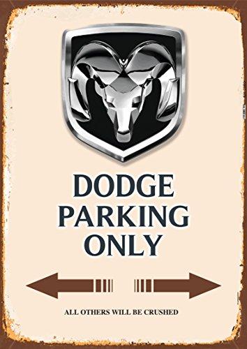 Dodge Parking only blechschild auto motorrad park schild