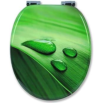 Toilettendeckel WC Deckel WC-Sitz Klobrille TROPFEN grün