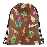 vintage cap Square Roots On Boolean Brown_44307 3D Print Drawstring Backpack Rucksack Shoulder Bags Gym Bag for Adult 16.9