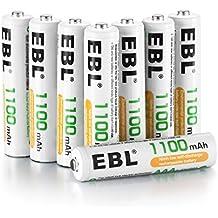 EBL 1100mAh AAA Ni-MH 1200 Ciclo de Pilas Recargables para los Equipos Domésticos con Estuches de Almacenamiento ( 8 piezas)