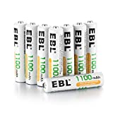 EBL 8 Piles AAA 1100 mAh Pile Rechargeable 1.2V Ni-MH Plus de 1200 Cycles