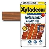 Xyladecor Holzschutz Lasur 2 in 1 Kastanie 5 Liter - auch für druckimprägnierte Holzbauteile