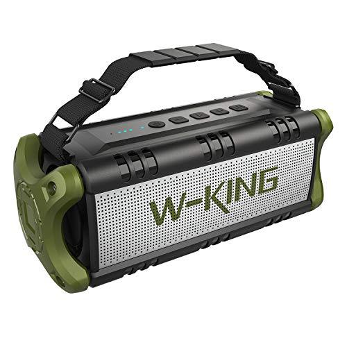 W-KING Bluetooth Lautsprecher Wasserdicht | 24 Stunden Laufzeit + 30 Meter Reichweite | tragbare Bluetooth Speaker Box | Lautsprecher Musikbox (Grün)