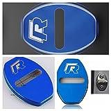 Emblem Trading Schloss Rahmen Blende R Logo Blau Golf 5 6 7 Polo Passat 5 6 7 8 Tiguan Touran