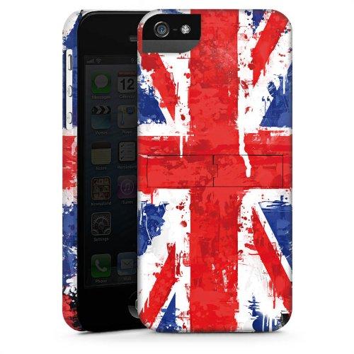 Apple iPhone 4 Housse Étui Silicone Coque Protection Union Jack Angleterre Drapeau CasStandup blanc