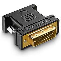 UGREEN Adaptador DVI-I 24+5 Macho a VGA Hembra para Juegos, DVD, Laptop, HDTV y Proyectores, Chapado en Oro