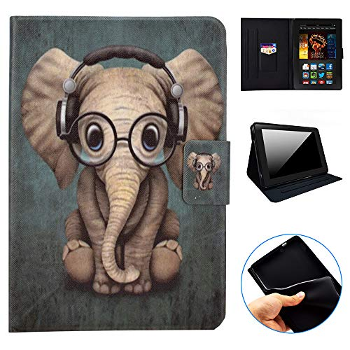 GSWAY Schutzhülle für Amazon Fire HDX 17,8 cm (7 Zoll) Tablet, dünn und leichteste, Faltbare Standfunktion, PU-Leder TPU Innenhülle für Amazon Kindle Fire HDX (3. Generation, 2013) (Zoll Hülle 7 Fire Kindle)