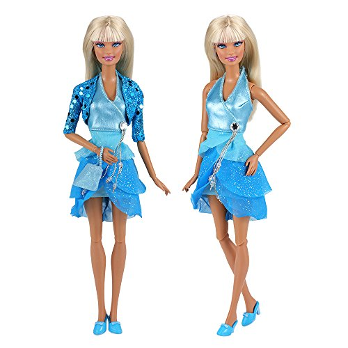 VILLAVIVI Sets Jacke Dress Kleidung Fashionistas Schuhe Tasche für Barbie Puppen Doll (Barbie Fashionistas Doll Set)