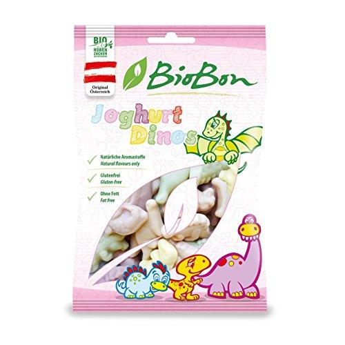 Preisvergleich Produktbild Biobon Bio-Fruchtgummis Joghurt Dinos 10x80g Beutel