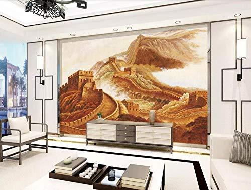 Preisvergleich Produktbild Fototapete 3D Effekt Tapeten China Great Wall Hd Ölgemälde Vliestapete Wandbilder Wallpaper Dekoration