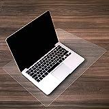 Desktex, proteggi scrivania in policarbonato con retro antiscivolo, rettangolare, 48x 61cm, trasparente. Retro liscio in policarbonato 48 x 61 cm