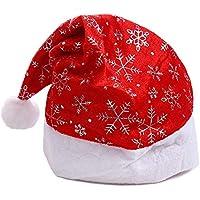 HEJIANGTAO Gorra con Copo de Nieve para Adultos Artículos de Navidad para niños en Oro Brillante, Plata