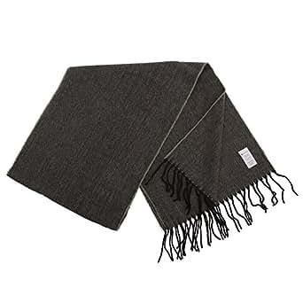 Mens Herringbone Winter Scarf (196cm x 31cm) (Black/Grey)