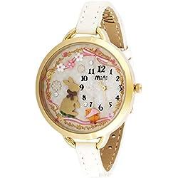 ufengke® mini cartoon fashion polymer clay watch for lady women girls-rabbit theme