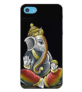 Fuson Designer Back Case Cover for Apple iPhone 5c (Creative Ganesha Theme)