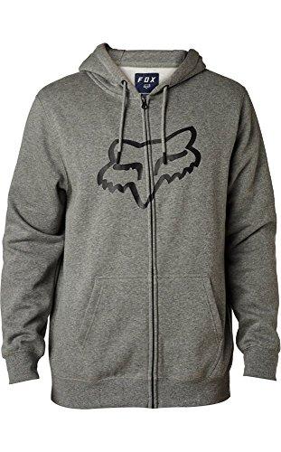 Fox 20766-185-L Jersey Legacy Foxhead Zip, Grey, L