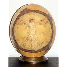 """UOVA DI STRUZZO DECORATE con motivo """"Uomo Vitruviano di Leonardo"""""""