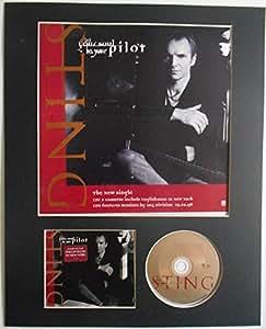 Cordon Laissez votre âme être votre Pilot original Shop Poster et support CD Présentation en fait sur mesure à cadre