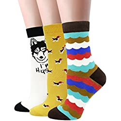 LITTONE® 3 Pares calcetines de algodón calcetines térmicos Adulto Unisex Calcetines