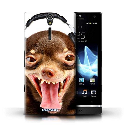 Kobalt® Imprimé Etui / Coque pour Sony Xperia S/LT26i / Chatonne surprise conception / Série Animaux comiques Chien ridicule