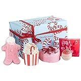 """Badeset """"Weihnachten"""" (Zuckerstange, ohne persönliches Handtuch) – handgemachtes Wellness-Set von Bomb Cosmetics – originelles Weihnachtsgeschenk für Mütter – Badehandtuch mit Wunschname"""