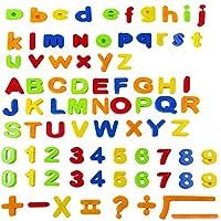 Weddecor 3.2cm 80pcs Colorful Fridge Magnetic Learning Alphabet Letters Numbers and Symbols