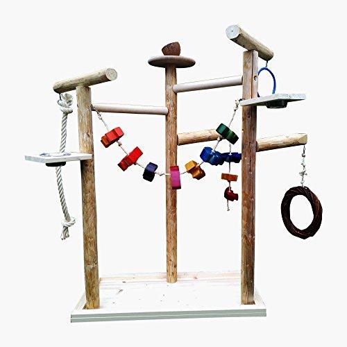 Kletterbaum für Vögel mit Vogelspielzeug , Papageienfreisitz 219