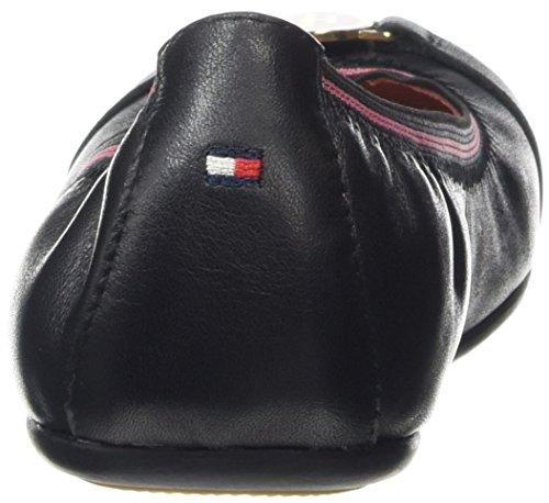 Tommy Hilfiger D3285ana 9a, Ballerines fille Noir - Noir (990)