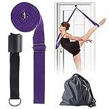 Nosii Cintura da Ballo Yoga Danza Ginnastica o Qualsiasi Gamba Sportiva Fascia per barella Attrezzatura per Stretching avanzata Flessibilità e Stretching (Color : Deep Purple)