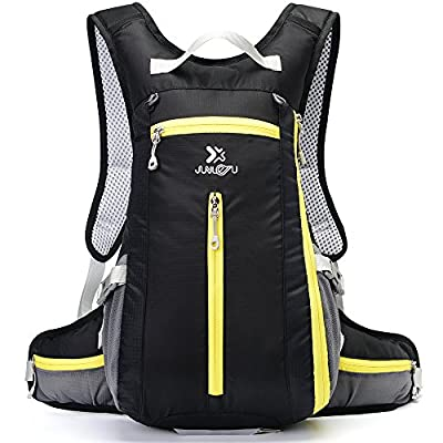 Cycling Backpack DeFe 15L Water Resistant Lightweight Bicycle Backpack Hydration Bag with Helmet Net Multi Pockets Men Women Sports Rucksack for Riding Hiking Climbing Running Skiing Biking from DeFe
