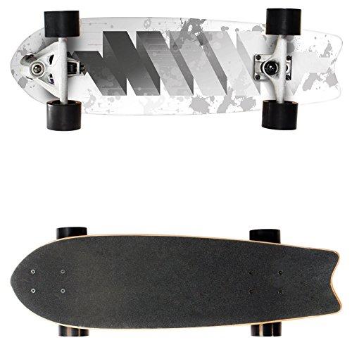 Sport Plus EZY! Carver Skateboard, 70 cm assale anteriore orientabile pivotabile per curve estreme, ABEC 7, motivi assortiti, Longboard EZY Carver, Twister