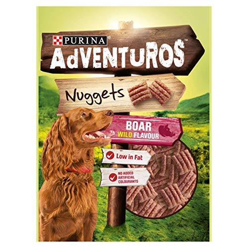 Purina Adventuros Nuggets Dog Treats Boar Flavour, 90 g - Pack of 6
