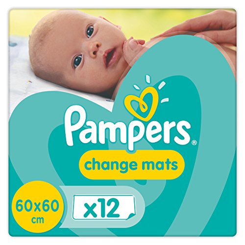 Pampers Change Mats Wickelunterlage,  5er Pack (5 x 12 Stück)