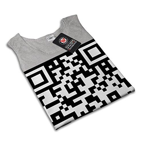 QR Code Nerd Junkie Geek Neo Strichcode Damen S-2XL Muskelshirt | Wellcoda  Grau ...