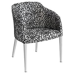 Febland Brigida Tub Chair, Fabric, Silver, 59x57x79 cm